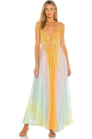 ROCOCO SAND Leal Ombre Dress in Orange,Pink.