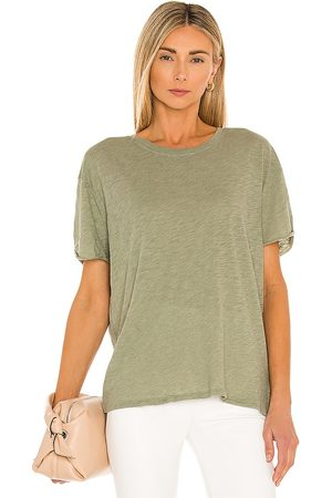 Free People Clarity Ringer Tee in White.