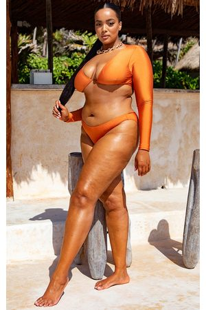 PRETTYLITTLETHING Women Bikinis - Plus Cheeky Bum Bikini Bottoms