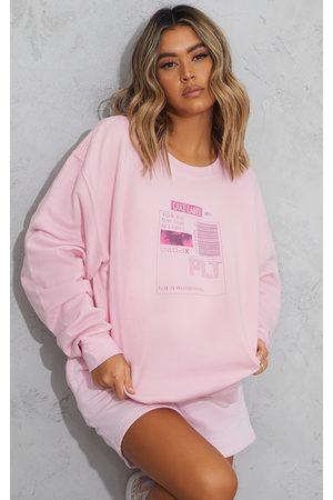PRETTYLITTLETHING Care Label Oversized Sweatshirt