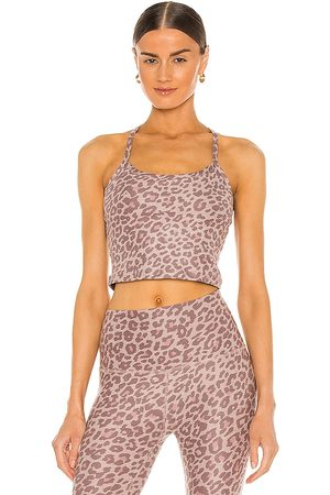 Beyond Yoga Spacedye Printed Slim Racerback Tank in Beige.