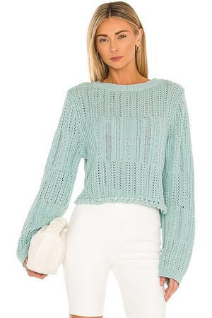 JONATHAN SIMKHAI Amberly Pullover in Teal.