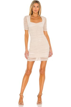 JONATHAN SIMKHAI Tiffany Mini Dress in Nude.