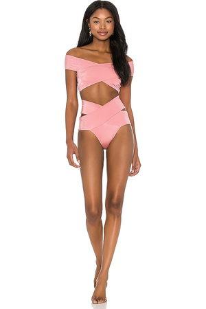 OYE Lucette Bikini Set in Rose.