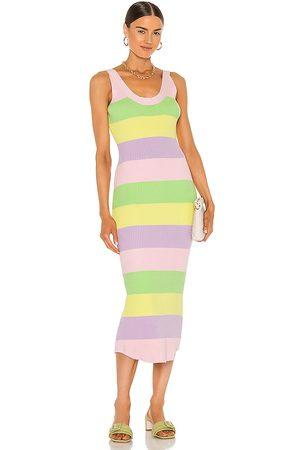 OLIVIA RUBIN Ariel Dress in Purple,Yellow.