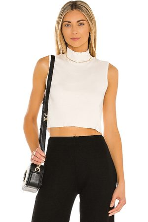 Lanston Crop Turtleneck Tank in .