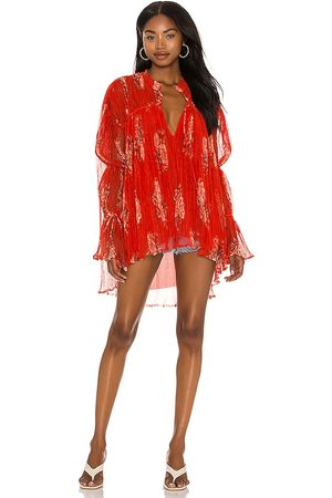 Free People Dahlia Tunic in Red.