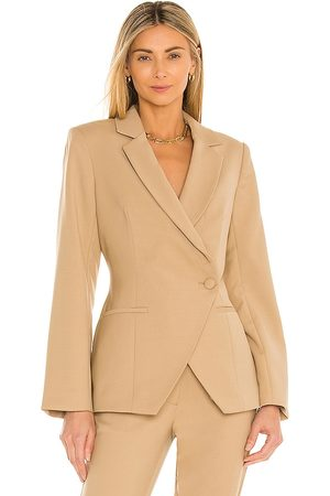 ANINE BING Ade Blazer in Tan.