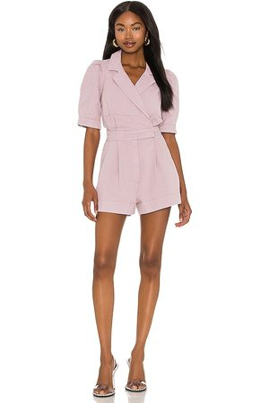 7 for all Mankind Seamed Romper in Lavender.