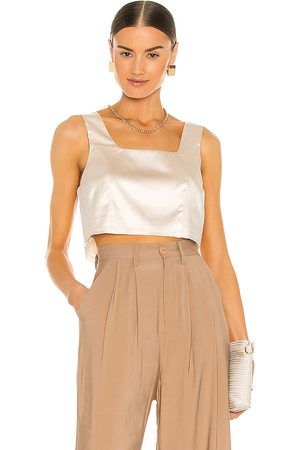NONchalant Charli Crop Top in Ivory.