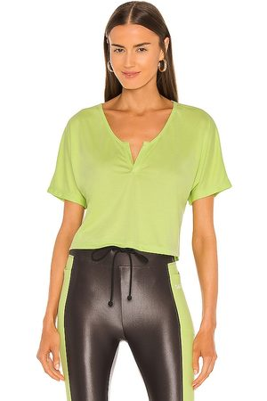 Koral Regal Marlow Crop Top in Green.