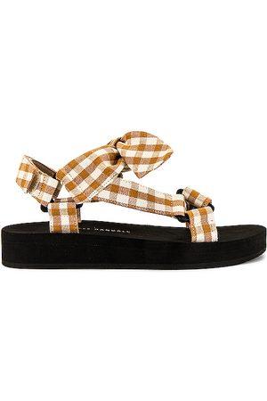 Loeffler Randall Maisie Sporty Sandal in Orange.