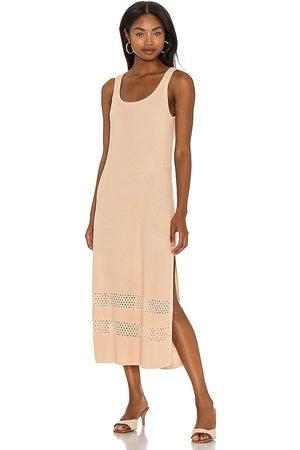 Seafolly Terrain Knit Dress in Nude.