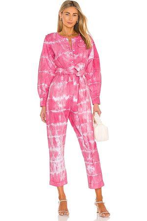 LOVESHACKFANCY Paca Jumpsuit in Pink.