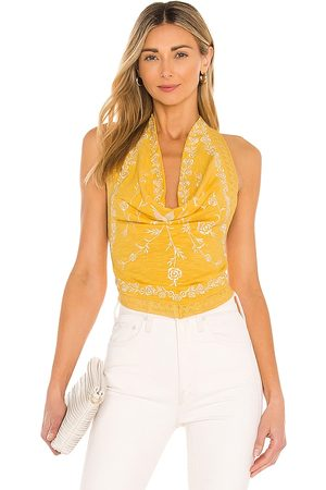 Free People Hows It Going Halter Top in Yellow.