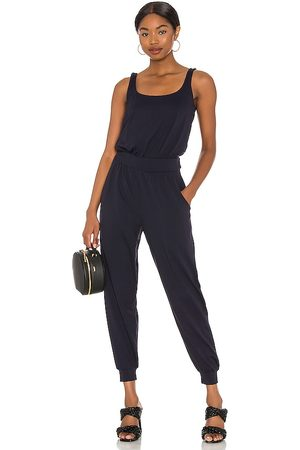 Susana Monaco Gathered Jumpsuit in Navy.