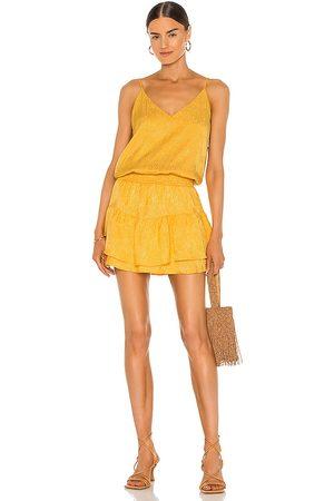 krisa Smocked Waist Cami Mini Dress in Yellow.