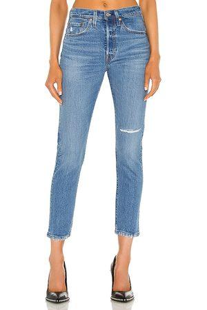 Levi's Women 501 Skinny in Blue.