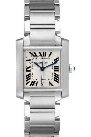 Cartier Stainless Steel Tank Francaise Automatic W51002Q3 Men's Wristwatch 28 x 32 MM