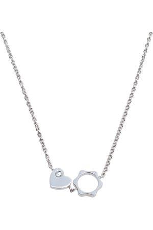 Mont Blanc Star Heart Charm Diamond 18K Gold Necklace
