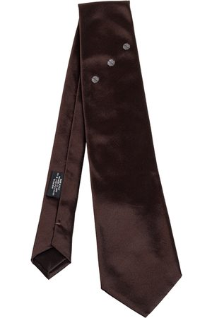 Prada Men Neckties - Floral Detail Silk Tie