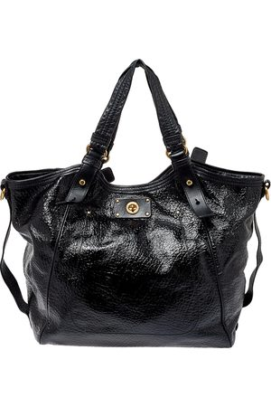 Marc Jacobs Patent and Leather Turnlock Shoulder Bag