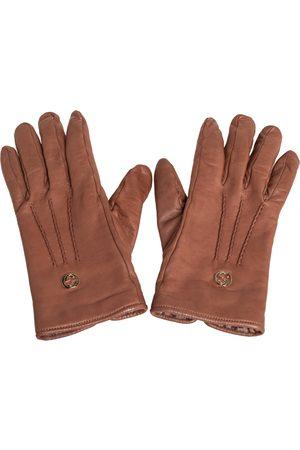 Gucci Soft Leather Interlocking G Gloves Size L