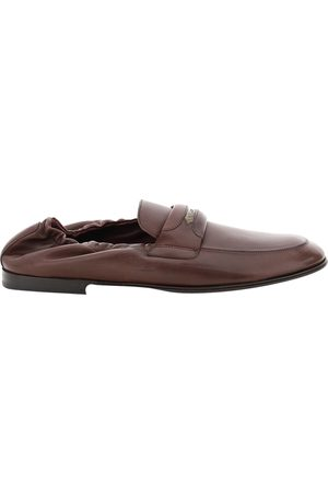 Dolce & Gabbana Calfskin Leather Branded Tag Loafers Size IT 41