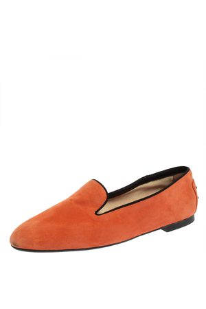 Tod's Women Loafers - Suede Smoking Slippers Size 41