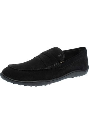 Tod's Suede Penny Slip On Loafers Size 44