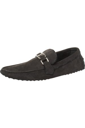 LOUIS VUITTON Men Loafers - Nubuck Hockenheim Loafers Size 41.5