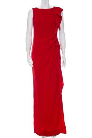 Carolina Herrera CH Crepe Ruffled Detail Sleeveless Maxi Dress M