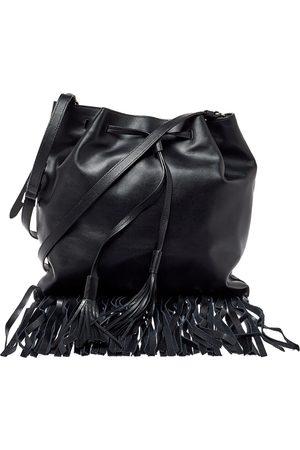 Prada Soft Leather Fringed Drawstring Shoulder Bag