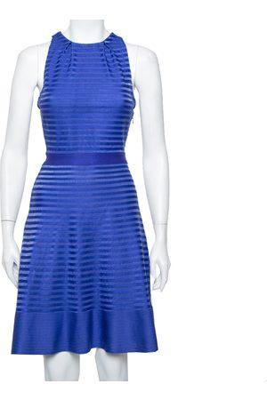Dior Christian Silk Knit Cross Back Detail Sleeveless Dress L