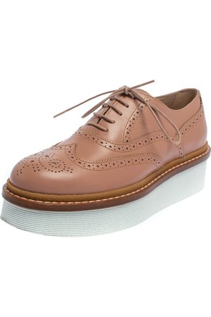 Tod's Leather Lace Up Oxfords Size 37.5