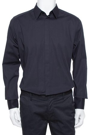 Dolce & Gabbana Stretch Cotton Gold Fit Long Sleeve Shirt XL