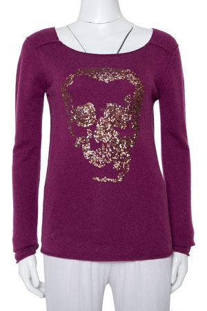 Zadig & Voltaire Zadig & Voltaire Luxe Cashmere Sequin Embellished Skull Detail Sweater S