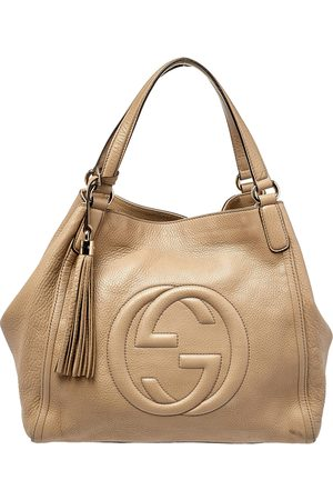 Gucci Women Purses - Grained Leather Soho Tote