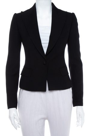 Dolce & Gabbana Wool Button Front Cropped Blazer S