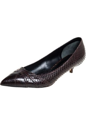 Dolce & Gabbana Python Leather Kitten Heel Pumps Size 36
