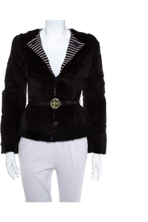 Emporio Armani Women Blazers - Fur Belted Button Front Blazer S