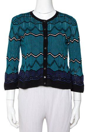 M Missoni Knit Button Front Crop Top S