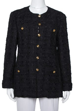 Gucci Women Jackets - Tweed Button Front Jacket L