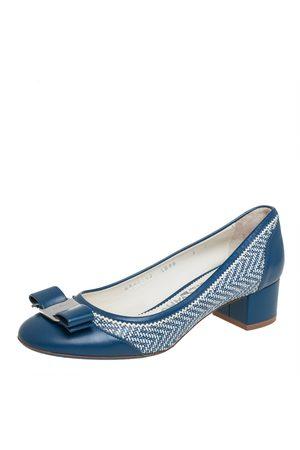 Salvatore Ferragamo Leather Vara Bow Block Heel Pumps Size 37.5