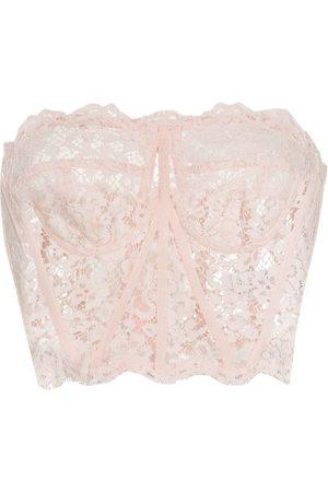 Dolce & Gabbana Floral-lace bustier top