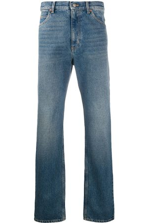 Gucci Men Straight - Washed-effect straight leg jeans