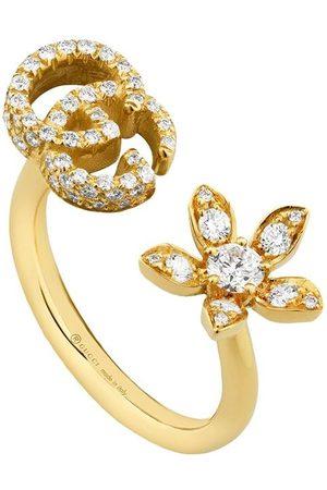 Gucci 18kt yellow Flora diamond ring