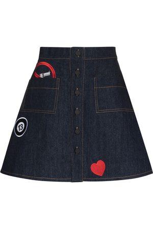 Natasha Zinko Women Denim Skirts - Button-front skirt