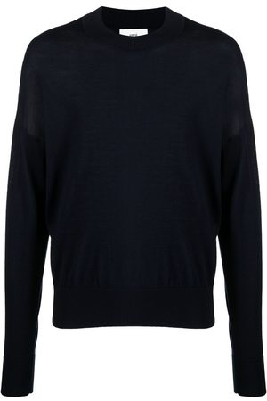 Ami Men Sweatshirts - Logo-embroidered knitted jumper