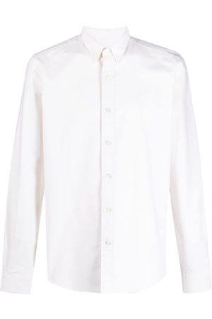 Ami Men Shirts - Ami de Coeur button-down shirt - Neutrals